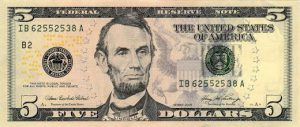 front-five-dollar-bill